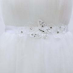 Satin/ Tulle Wedding / Party/ Evening Sash-Rhinestone Women's 78 ¾in(200cm) Rhinestone