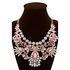 Žene Izjava Ogrlice Kristal Dragi kamen Legura Moda Izjava Nakit Crvena Zelen Pink Jewelry Special Occasion Rođendan