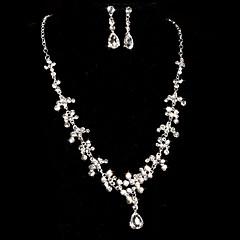 Takı Seti Kadın's Yıldönümü / Düğün / Nişan / Hediye / Parti / Özel Anlar Mücevher Setleri alaşım / Yapay Elmas Yapay ElmasKolyeler /