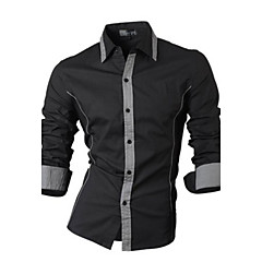 Informeel Shirt Kraag - MEN - Vrijetijds shirts ( Katoenmengeling )met Lange Mouw