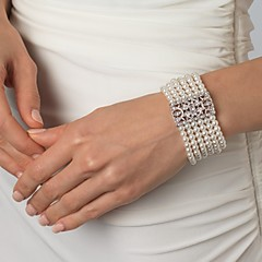 Vintage Luxurious Diamond Wedding Silver Bracelet For Women Lades Bridal Birthday GIft 1930's Wedding
