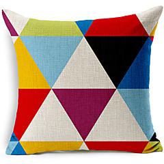 moderne stil farvet geometriske mønstret bomuld / linned dekorative pudebetræk