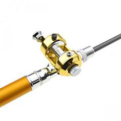 Foldbare ministenger / Fiskestang Foldbare ministenger Metall 100 M Generelt fisking Fiskestenger + Fiskesneller Gull