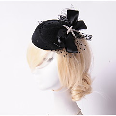 Women's Rhinestone / Tulle / Flannelette Headpiece-Wedding / Special Occasion / Outdoor Flowers / Hats 1 Piece White