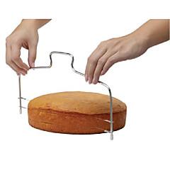mode dobbelt line justerbar rustfrit stål metal kage cut værktøjer kage pålægsmaskine enhed skimmel Bageforme køkken madlavning