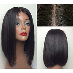 In Stock 12inch Bob Straight Natural Color Brazilian Virgin Hair Lace Front Wig