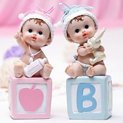 Chá de Bebê Party Favors & Gifts-1Peça/Conjunto Acessório para Bolo Resina Tema Clássico Não-Personalizado Rosa / Azul