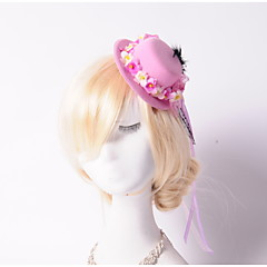 Women's / Flower Girl's Satin / Basketwork / Flannelette Headpiece-Wedding / Special Occasion / Outdoor Hats 1 Piece