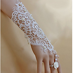 Ladies' Alloy Chain With Imitation Pearl Wedding Bracelet