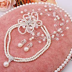 Women's  WeddingJewelry Set With Crystal Imitation Pearl