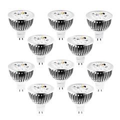4W GU5.3(MR16) LED Spot Lampen MR16 4 High Power LED 360-400 lm Warmes Weiß / Kühles Weiß / Natürliches Weiß Dimmbar DC 12 / AC 12 V10