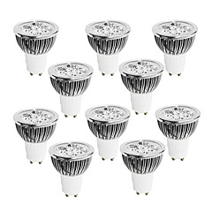 4W GU10 LED Spot Lampen 4 High Power LED 320 lm Warmes Weiß / Kühles Weiß / Natürliches Weiß Dimmbar AC 220-240 V 10 Stück