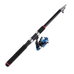 Teleskopický Teleskopický Uhlík 2.1/2.4/2.7/3.0/3.6 M Mořský rybolov Tyč Černá-海龙王