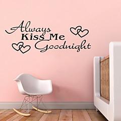 Mindig csókolj meg jóéjt idézetek zy8053 adesivo de Parede vinyl falimatrica lakberendezés murális művészet