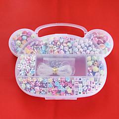 beadia akril DIY gyöngyök válogatott színe és formája műanyag dobozban gyerekek játék ajándék fit nyaklánc karkötő ékszerek