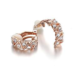 クリップイヤリング クリスタル ファッション クリスタル キュービックジルコニア 模造ダイヤモンド 合金 ジュエリー のために 結婚式 パーティー 日常 カジュアル 2 個