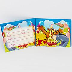 Winnie the Pooh Einladungskarten 12pcs / lot