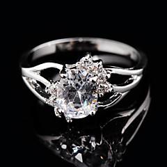 Anéis Casamento / Pesta / Diário / Casual / Esportes Jóias Zircão / Gema Feminino Anéis Grossos 1pç,6 / 7 / 8 / 9 / 10 Branco