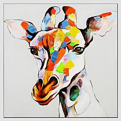 Ölgemälde Giraffe Stil, Canvas-Material mit gestreckten Rahmen bereit, Größe hängen: 70 * 70cm.