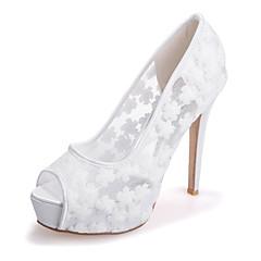 סנדלים - נשים - נעלי חתונה - נעלים עם פתח קדמי - חתונה / מסיבה וערב - שחור / כחול / ורוד / שנהב / לבן