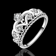 Anéis Casamento / Pesta / Diário / Casual / Esportes Jóias Prata Chapeada Feminino Anéis Statement 1pç,7 / 8 Prateado
