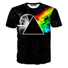 Men's Floral Print  All Match Creative T-Shirt