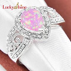 指輪 女性用 / 男性用 / 男女兼用 クリスタル 銀 銀 7 / 8 / 9 銀 装飾物のカラーは画像をご参照ください.