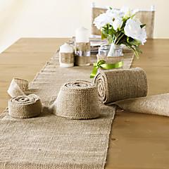 "Wedding Decoration 4"" (10cm) Wide 10 Meter Jute Cloth Burlap for Decoration Chair Sash"