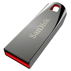 SANDISK Z71 USB 2.0 Flash Drive - Ασημί + Κόκκινο (8GB)