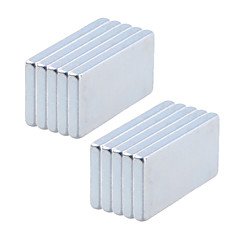 Magnet Toys 10Pcs 20x10x2mm Magnet Toys / Super Strong Rare-Earth Magnets / Neodymium Magnet Executive Toys Puzzle Cube DIY ToysMagnetic