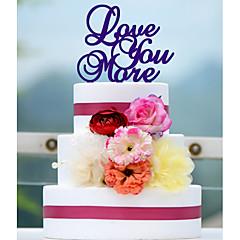 케이크 장식 비 개인화 아크릴 기념일 / 결혼 측하 / 웨딩 레드 / 화이트 / 그린 / 블루 1 폴리 가방