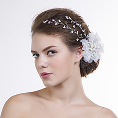 Women Organza Flowers With Multi-stone/Imitation Pearl Wedding/Party Headpiece