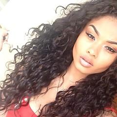"""10 """"-26"""" brasilianska jungfru hår människohår spetsar peruker lockiga spetsar peruker"""