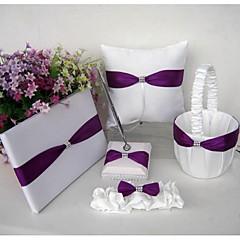 engros lilla sateng giftering pute strømpe rhinestone bryllup favør (5 stk)