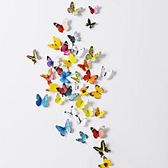 38 pcs conjunto de 2 emulational 3d adesivos de parede borboleta pvc com espuma vara 38 peças PVC / plástico