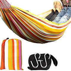 KORAMAN Double Hammock Camping Hammock Oxford Cloth Portable Leisure Hanging Bed with Bag and Belts