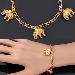 Γυναικεία Βραχιόλια με Φυλαχτά Βραχιόλι Μοντέρνα Επιχρυσωμένο Κράμα Animal Shape Ελέφαντας Χρυσαφί Κοσμήματα ΓιαΓάμου Πάρτι Ειδική