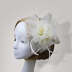 Vrouwen Veren / Net Helm-Bruiloft / Speciale gelegenheden Fascinators / Bloemen 1 Stuk