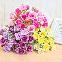 hochwertige künstliche Blume helle Farbe stieg Seidenblume für Hochzeit und dekorativen