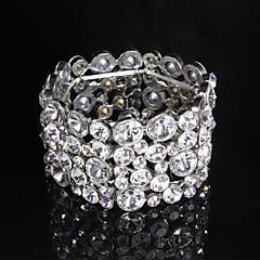 Tennis Bracelets 1pc,Transparent / Silver Bracelet Fashionable / Rhinestone Jewellery