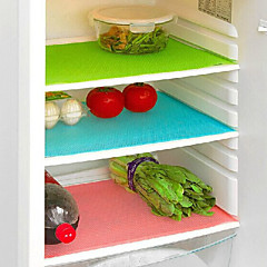 4-delige antibacteriële koelkast liner mat gesneden op maat kast lade pad (ramdon kleur)