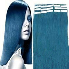 Grade 5A 2Set/Lot 16Inch/40cm Multicolors Straight Tape In Hair Extensions Human Hair Weaves 20s/Set 1.5G/s