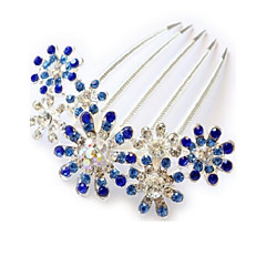 Fashion Sun Flower Alloy Hot Sale Hair Comb(3 color)(1Pc)