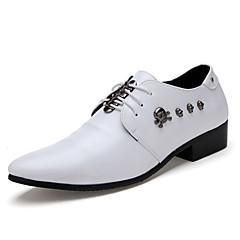 옥스퍼드 남자 신발 웨딩 / 사무실 & 커리어 / 캐쥬얼 / 파티/이브닝 레더렛 블랙 / 화이트