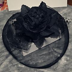 Classic Black Elastic Organza Headpiece Hat Fascinators for Party