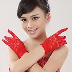 Wrist Length Fingertips Glove Lace Bridal Gloves / Party/ Evening Gloves / Flower Girl Gloves / Winter Gloves Spring / Summer / FallBlack