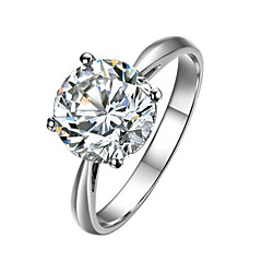Ring Women's Cubic Zirconia Alloy Alloy 8 Silver