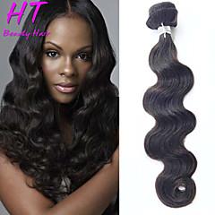 """1 st / lot 8 """"-26"""" brasilianska jungfru hår vågigt mänskliga hårförlängningar obearbetat brasilianskt hår väver"""