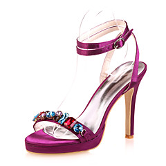 Women's Wedding Shoes Open Toe Sandals Wedding/Party & Evening Black/Blue/Pink/Purple/Red/Ivory/White