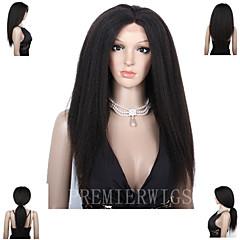 premierwigs 8 א קינקי פאות ישר ברזילאי בתולת תחרה מלאה אדם שיער פאות תחרה קדמית עם תינוק שיער לנשים שחורות